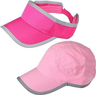 عبوة من قطعتين - قبعات شمس للنساء، تتضمن قناع وقبعة للجري، إكسسوارات لممارسة الرياضة، المشي، الجري، الغولف، التنس، الشاطئ ...