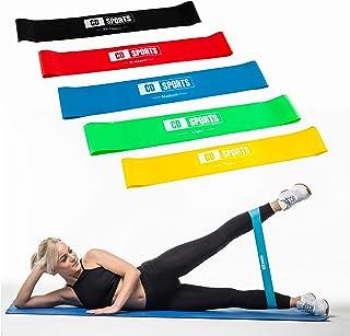 comprar comparacion Calma Dragon Bandas de Resistencia 85878, Cuerdas Elásticas Fitness, Set de 5 Bandas para Entrenamiento, Yoga, con Bolsa I...