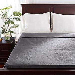 Berkshire Blanket VelvetLoft Blanket | Ultra Soft Cozy Plush Blanket | All-Season Warmth | Smoke Grey | Twin (60