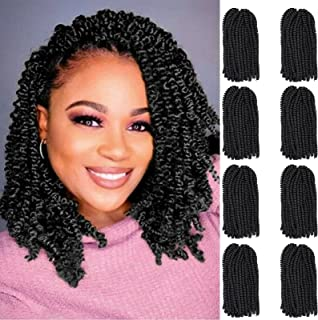 Spring Twist Hair 12 inches 8 packs Spring Twist Crochet Hair For Black Women Butterfly Locs Bomb Twist Short Fluffy Croch...
