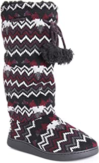 knee high knit slipper boots