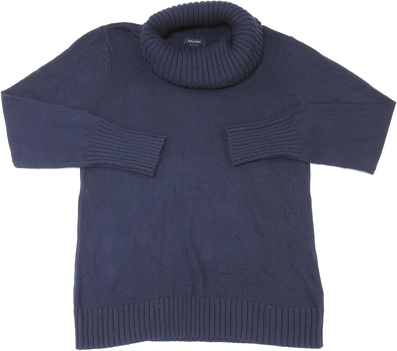 Nautica Womens Size Large Turtleneck Sweater, Navy