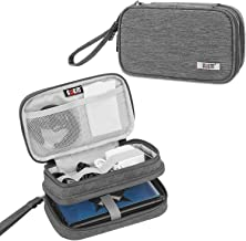 BUBM Double Compartment Storage Case Compatible with 3DS/3DS XL/New 2DS XL, Protective Carrying Bag, Portable Travel Organizer Case Compatible with 3DS/3DS XL/New 2DS XL and Accessories,Gray