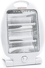 Takestop® - Estufa eléctrica de cuarzo de 800 W, dos elementos, radiador, estufa para casa, oficina