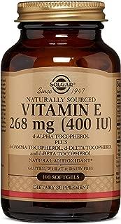 Vitamin E 268 MG (400 IU) Mixed Softgels (d-Alpha Tocopherol & Mixed Tocopherols) - 100 Count