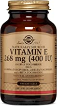 Vitamin E 268 MG (400 IU) Mixed Softgels (d-Alpha Tocopherol & Mixed Tocopherols) - 100 Count