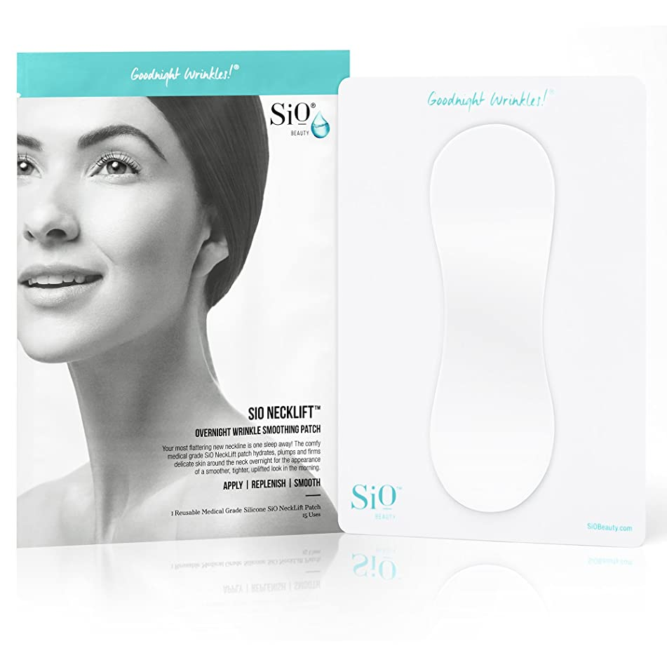 SiO NeckLift | Neckline Anti-Wrinkle Patch | Overnight Smoothing Silicone Patches For Neck Wrinkles, Fine Lines And Turkey Neck