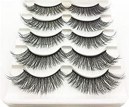 5 Pairs 3D Mink Hair Natural Long Eye Lashes Wispy Makeup Extension Tools Sexy Mink Eyelashes Eyes Lash,3D-48