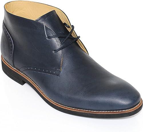 Steptronic Porto Schnürschuhe, Herren, Leder, mit Futter aus Schafleder, Marineblau