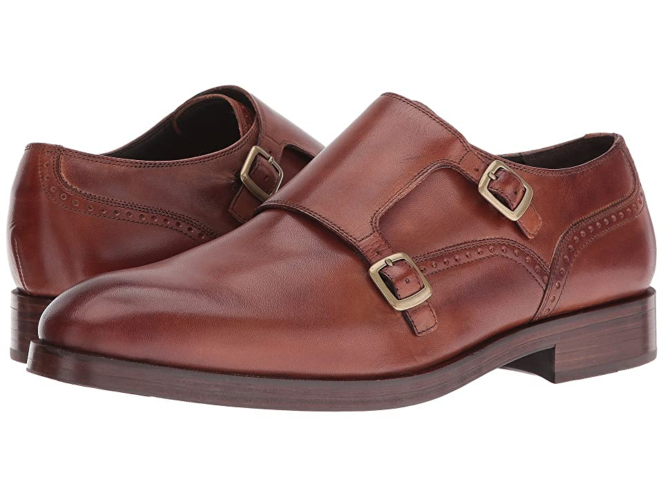Cole Haan Harrison Grand Double Monk (British Tan/Dark Natural) Men