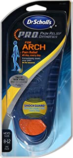 Dr. Scholl's P.R.O. Pain Relief Orthotics for Arch- Men's, Size 8-12