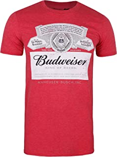 """Budweiser """"Bud Light"""" Authentic Company  Men's Large Red//Black Polo Style Shirt"""