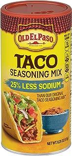 Old El Paso 25% Less Sodium Taco Seasoning Mix, 6.25 oz