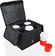 Katai - Insulated Drink and Food Carrier Tote for Delivery - Reusable Cup Holder Bag, Perfect for Hot and Cold Beverages -...