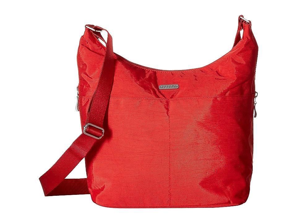 Baggallini Hobo Crossbody with RFID Wristlet (Hibiscus) Cross Body Handbags