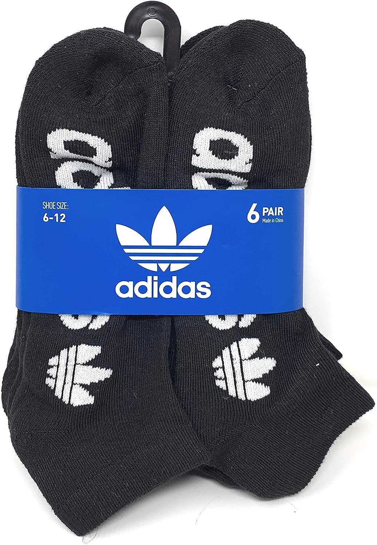 adidas Columbus Mall Men's Originals Trefoil 6 Pack Shoe Cut Socks Low Max 41% OFF Size