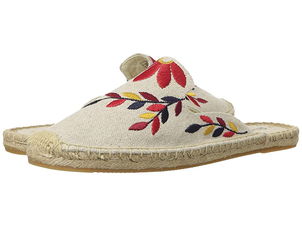 Soludos Embroidered Floral Mule (Sand/Red Multi) Women