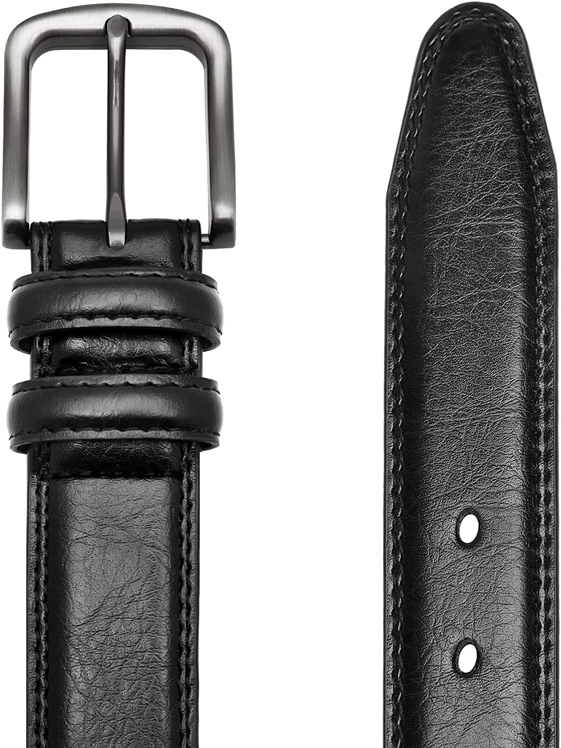 Bruno Marc Men's Genuine Leather Casual Dress Belt Classic Jean Belt with Single Prong Buckle for Business and Work