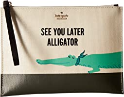 Kate Spade New York - Swamped Gator Medium Bella Pouch