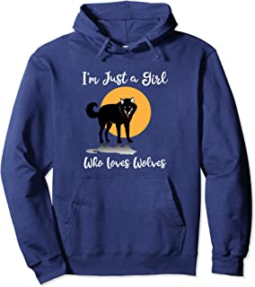I'm Just a Girl Who Loves Wolves Pullover Hoodie