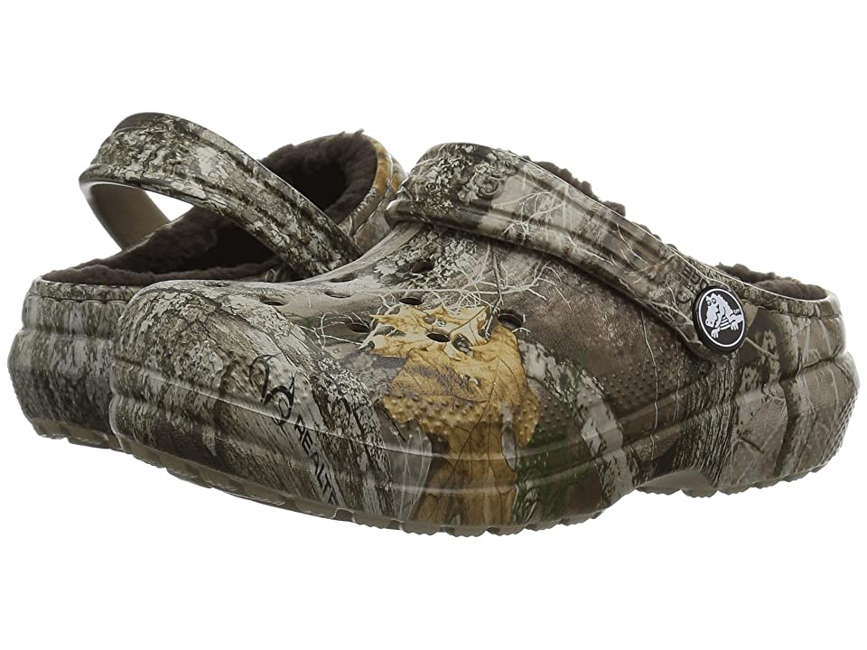 Crocs Kids Classic Realtree Edge Lined Clog (Toddler/Little Kid) (Khaki) Kids Shoes