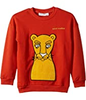 mini rodini - Cat Patch Sweatshirt (Infant/Toddler/Little Kids/Big Kids)
