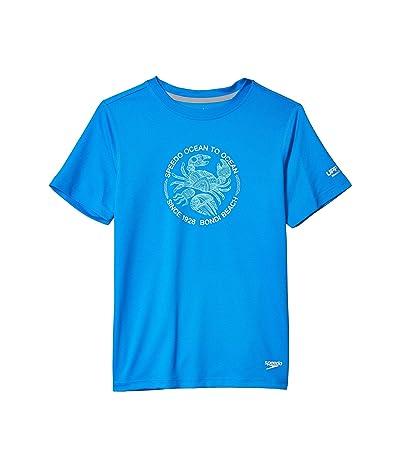 Speedo Kids Short Sleeve Graphic Swim Shirt (Little Kids/Big Kids) (Blue Lemonade) Boy