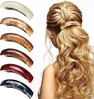 Large barrette for medium hair Hair slide for mom Ginkgo hair clip