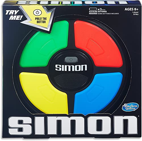 SIMON Classic - Remember the Pattern - Electronic Memory Game - Kids Toys Ages 8+