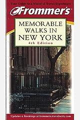 Frommer's Memorable Walks in New York Paperback
