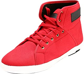 Bacca Bucci Men RED Canvas and Textile Casual Shoes