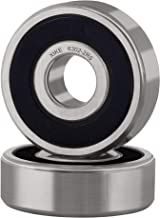 XiKe 2 Pcs 6302-2RS Double Rubber Seal Bearings 15x42x13mm, Pre-Lubricated and Stable Performance and Cost Effective, Deep Groove Ball Bearings.