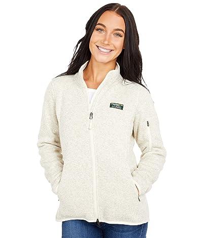 L.L.Bean Petite Sweater Fleece Full Zip Jacket (Sailcloth) Women