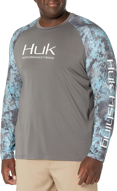 Huk Men's Double Choice Header Vented Shirt Premium Fishi Sleeve Ranking TOP6 Long
