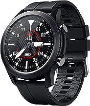ردیاب تناسب اندام تلفن های آیفون و اندروید سازگار با ساعت هوشمند SANAG با مانیتور ضربان قلب ، حالت ورزشی ، ساعت هوشمند گام شمار ضد آب IP68 با مانیتور خواب ، شمارنده گام سیاه برای مردان