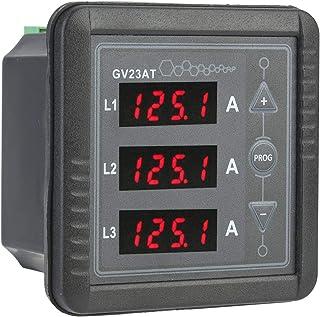 Amperímetro de pantalla digital de tubo LED de 4 bits Probador práctico de alta precisión GV23AT 165-275V Generador Medidor de corriente CA trifásico para medir corrientes CA