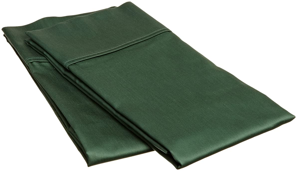 Superior 100% Egyptian Cotton 400 Thread Count Solid 2-Piece Pillowcase Set, Standard, Hunter Green