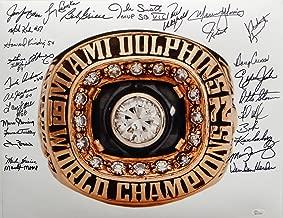 1972 17-0 Perfect Season Autographed 16x20 Super Bowl Ring Photo- W Auth - JSA Certified - Autographed NFL Photos