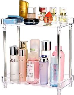 Bathroom Organizer Countertop, 2-Tire Vanity Tray Corner Shelf for Makeup Cosmetic Perfume Skincare Bathroom Supplies and ...