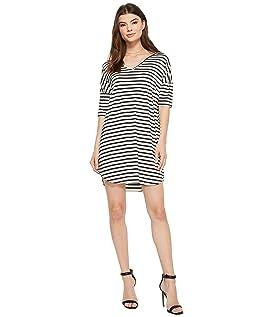 Hartley Striped V-Neck Dress