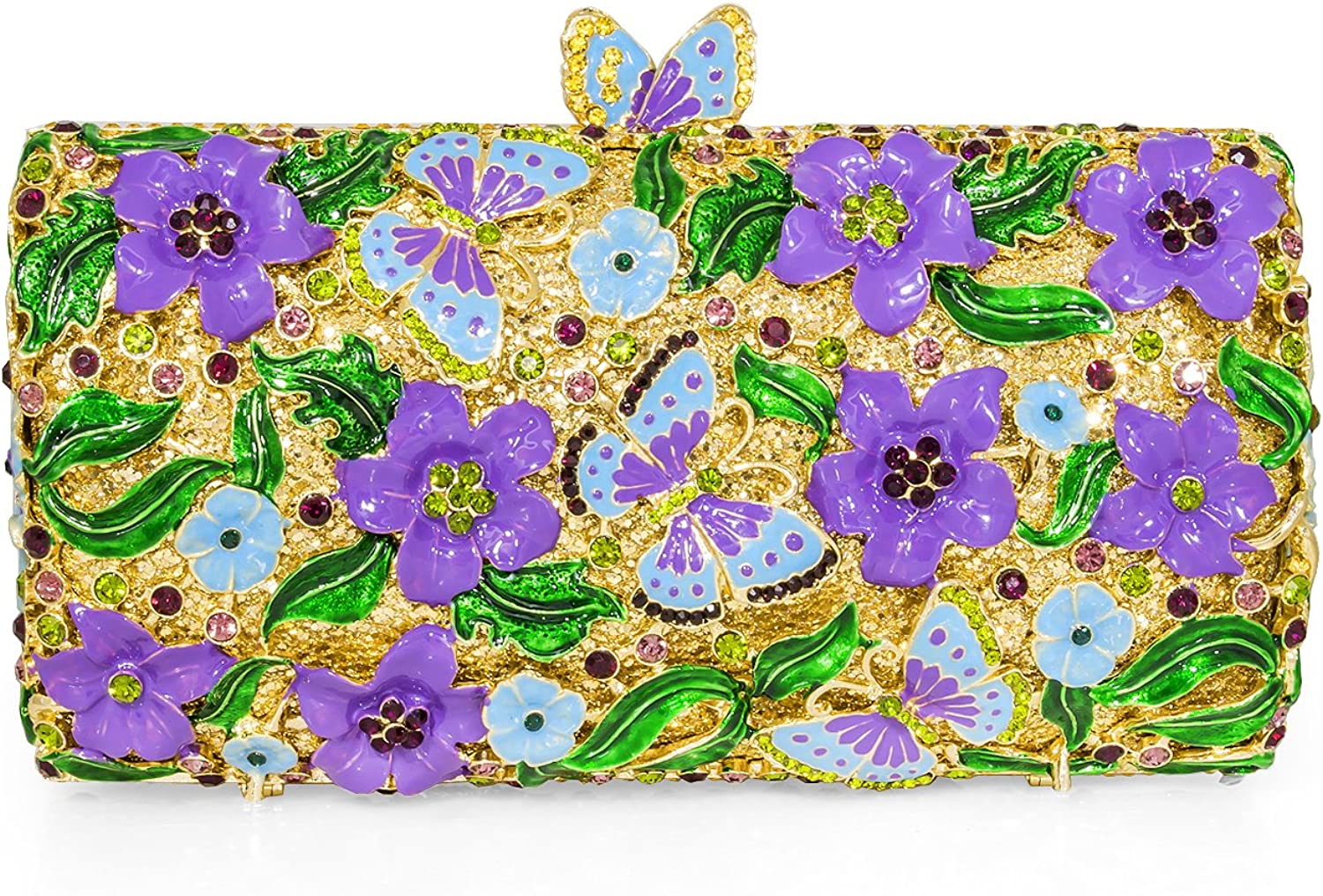 Dolli Butterfly Flora Crystal Clutch