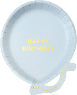 Talking Tables BDAY-PLATE-BALL-B We Heart Birthdays Glitter Candle-5, Papier, Multicolores, 2 x 18 x 24 cm