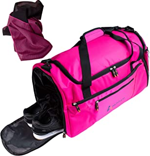 ANKHTIVE Sport Gym Bag with Shoe Compartment, Wet Pocket Travel Duffel & Sports Cooling Towel