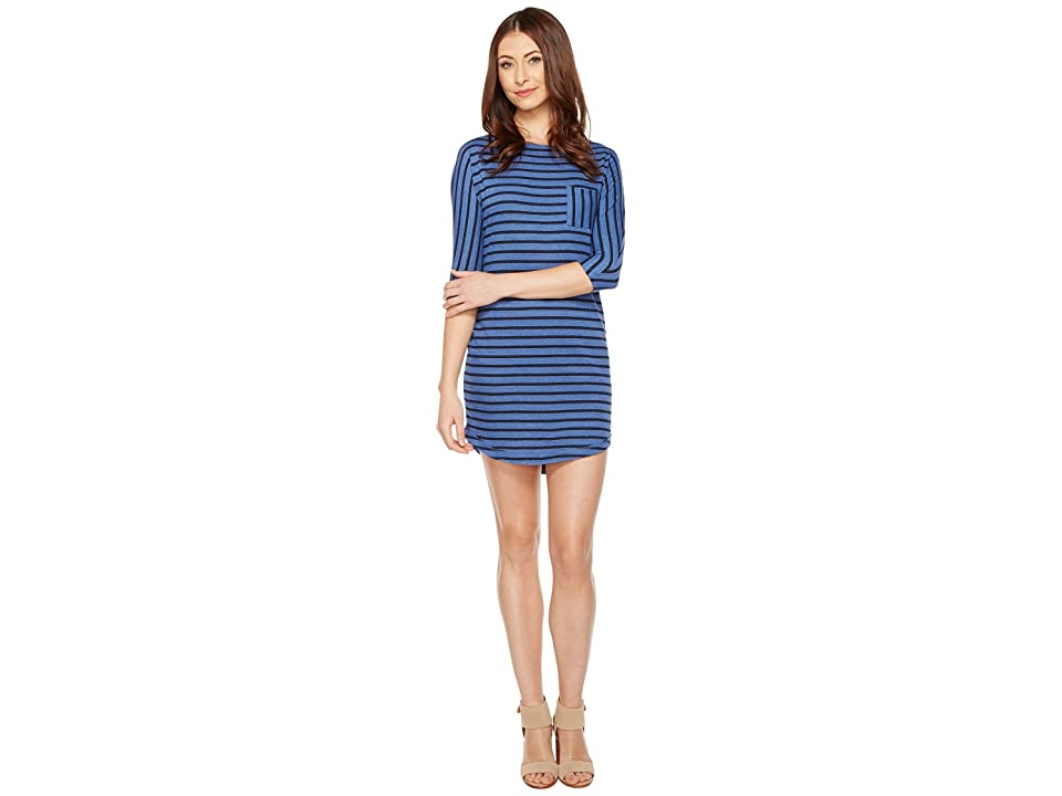 Alternative Skipper Eco-Jersey Yarn Dye Stripe Dress (Lake Blue OD Riviera Stripe) Women