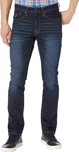Stretch Slim Fit Denim Jeans in Blue