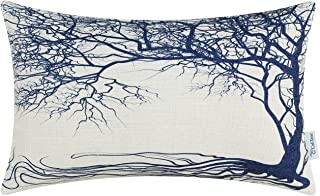 CaliTime Canvas Cushion Cover Bolster Pillow Cover Case for Couch Sofa Car Home Decoration Vintage Big Old Tree 12 X 20 In...