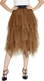 Amazon.es: Marrón - Faldas / Mujer: Ropa