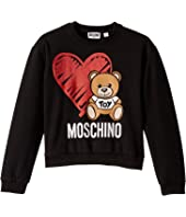 Moschino Kids - Sweatshirt w/ Heart Toy Bear (Big Kids)