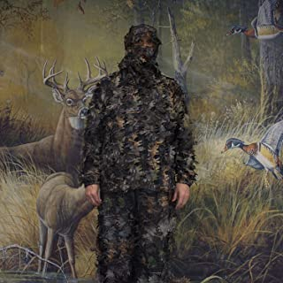 SAS 3D Leafy Camo Ghillie Suit for Hunting Camping Hiking