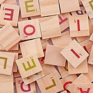 Scrabble Tiles - 200PCS Wood Letter Tiles/ Wooden Scrabble Tiles A-Z Capital Letters for Crafts